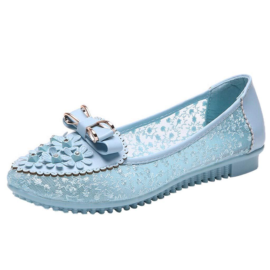 Sandales Femme Plates CompenséEs OrthopéDiques Talons NœUd éTé Strass Maille Pois Perlé Chaussures
