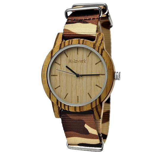 Hecha a mano de madera de Alemania® Designer Unisex Reloj de hombre de mujer reloj ...