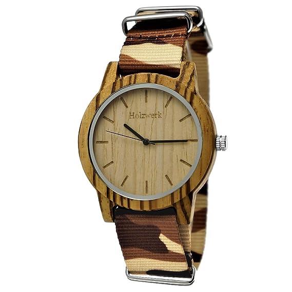 Hecha a mano de madera de Alemania® Designer Unisex Reloj de hombre de mujer reloj