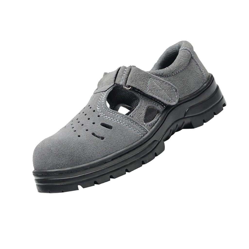 NON Sharplace Zapatos de Sandalias de Seguridad Resistentes al Aceite Antideslizantes Ligeros Perforados Zapatos de Trabajo con Puntera de Acero non-brand