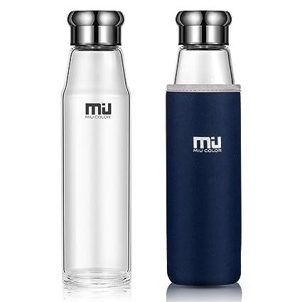 MIU COLOR Botella de agua con tapa de acero inoxidable ...