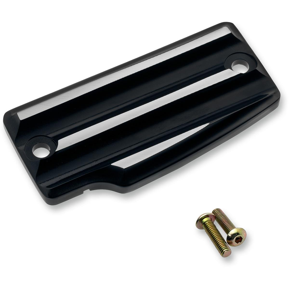 Joker Machine 30-390-2 Rear Master Cylinder Cover - Finned - Black Anodized/Silver by Joker Machine