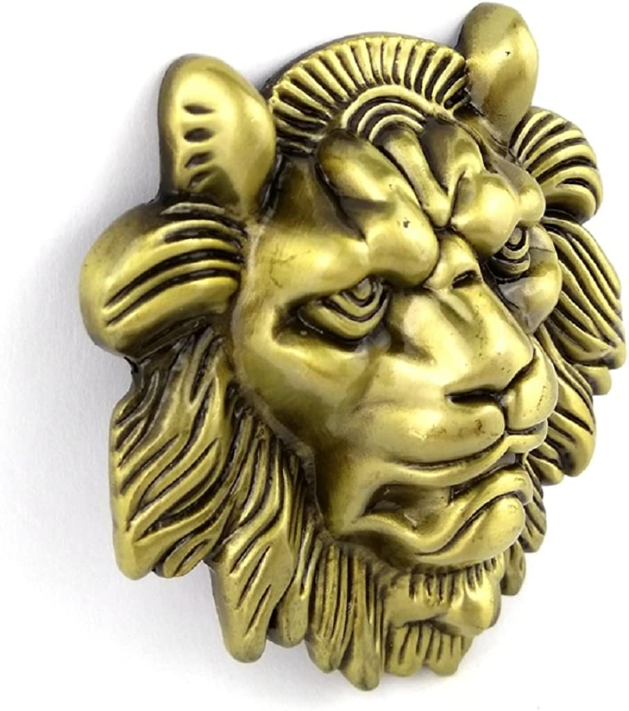 chiwanji Vintage Mountian Lion Head Belt Buckle Western Cowboy American Antique Gold