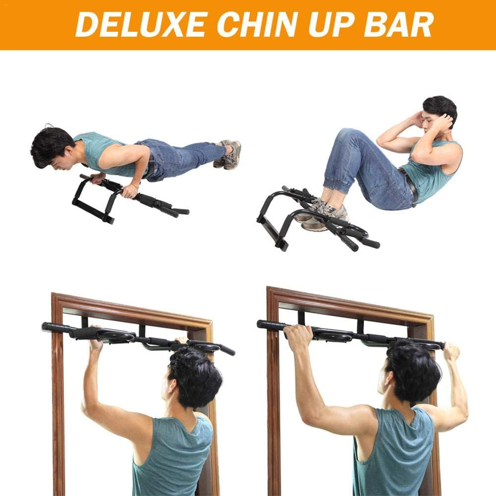 Exercise Muscles Chin Bar Uses Lever to Resist Door Portable Detachable Pull-up Bar Pull-on Stick Anti-Skid Pull-up Upper Body Trainer Fitness Bar Sit-ups Push-ups