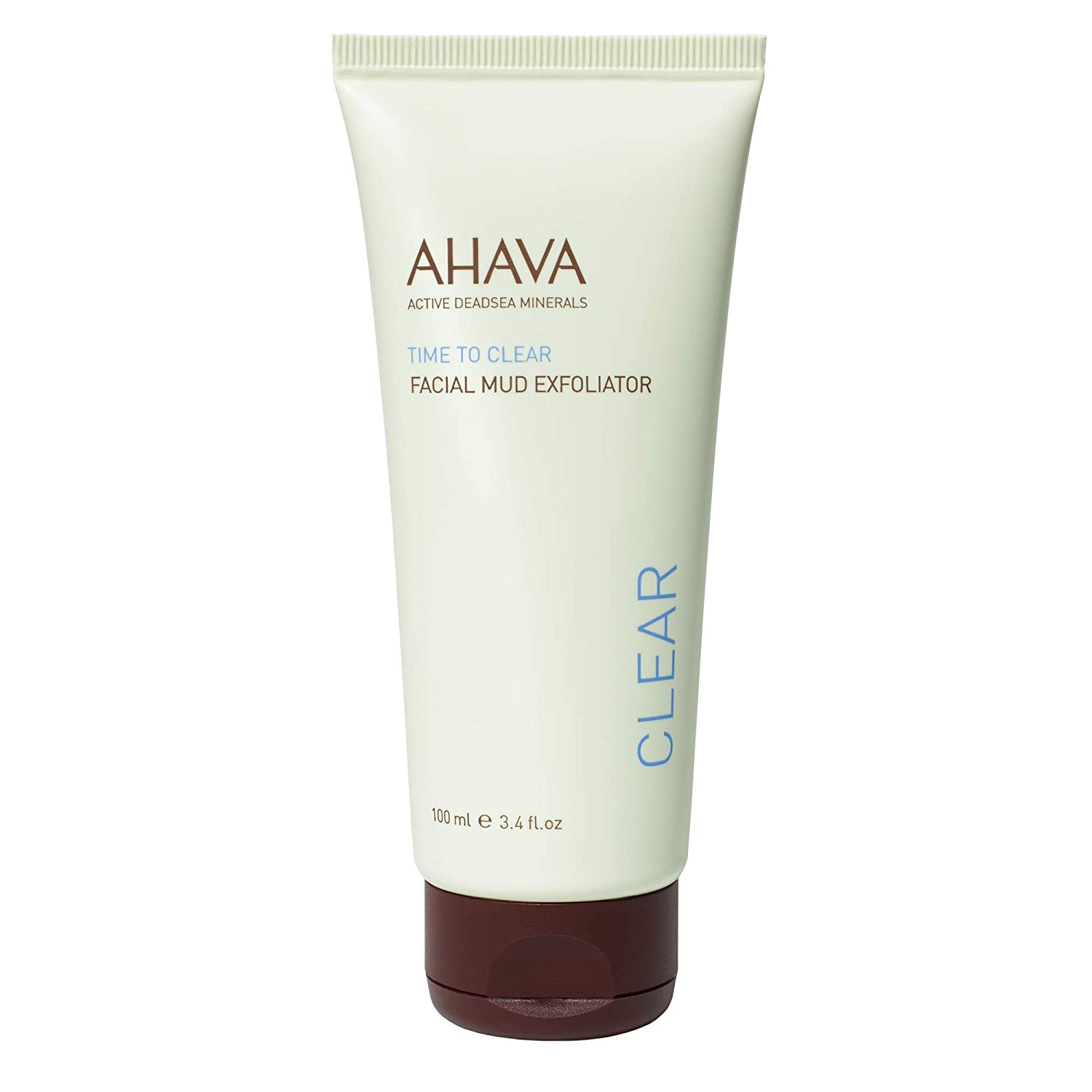 AHAVA Dead Sea Time to Clear Facial Mud Exfoliator, 3.4 Fl Oz