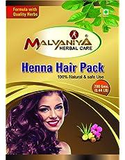 Henna Powder (Brown) Hair Pack Mix With 9 Herbs 100% Natural Henna Hair Pack (200g/0.44LB)(Henna Powder/Lawsonia inermis) Henna Hair Color Powder