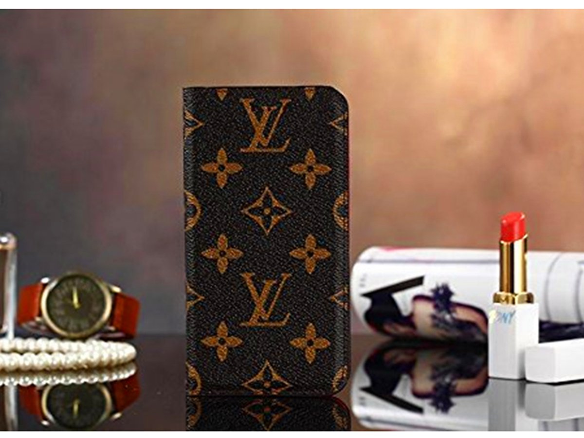 iPhone 7Plus 8Plus -US Fast Deliver Guarantee FBA- New Elegant Luxury PU Leather Wallet Style Flip Cover Case For Apple iPhone 7Plus 8Plus ( L Brown)