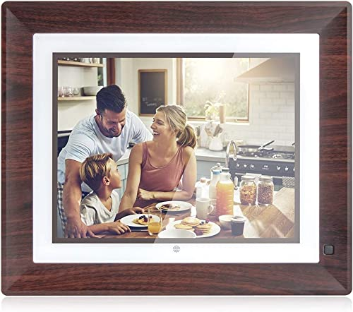 BSIMB 16GB Digital Picture Frame WiFi Digital Photo Frame 1067×800 Remote Control Auto-Rotate Motion Sensor Send Photos/Videos from iOS Android App/Twitter/Facebook/Email W09 9 Inch