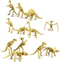 Aoile 12 Piece Assorted Dinosaur Fossil Skeleton 2-3cm Figures by Aoile