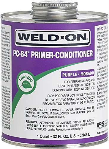 Pvc Primer (Weld On 64 Primer Cleaner Quart Purple)