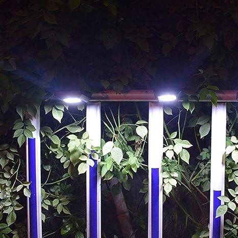 Luz Solar Sensor Luz Integrada Impermeable Luz De Pared Al Aire Libre Decoración De Jardín Al Aire Libre Jardín Impermeable Al Aire Libre Jardín Valla De Luz Luz De Calle: Amazon.es: Iluminación