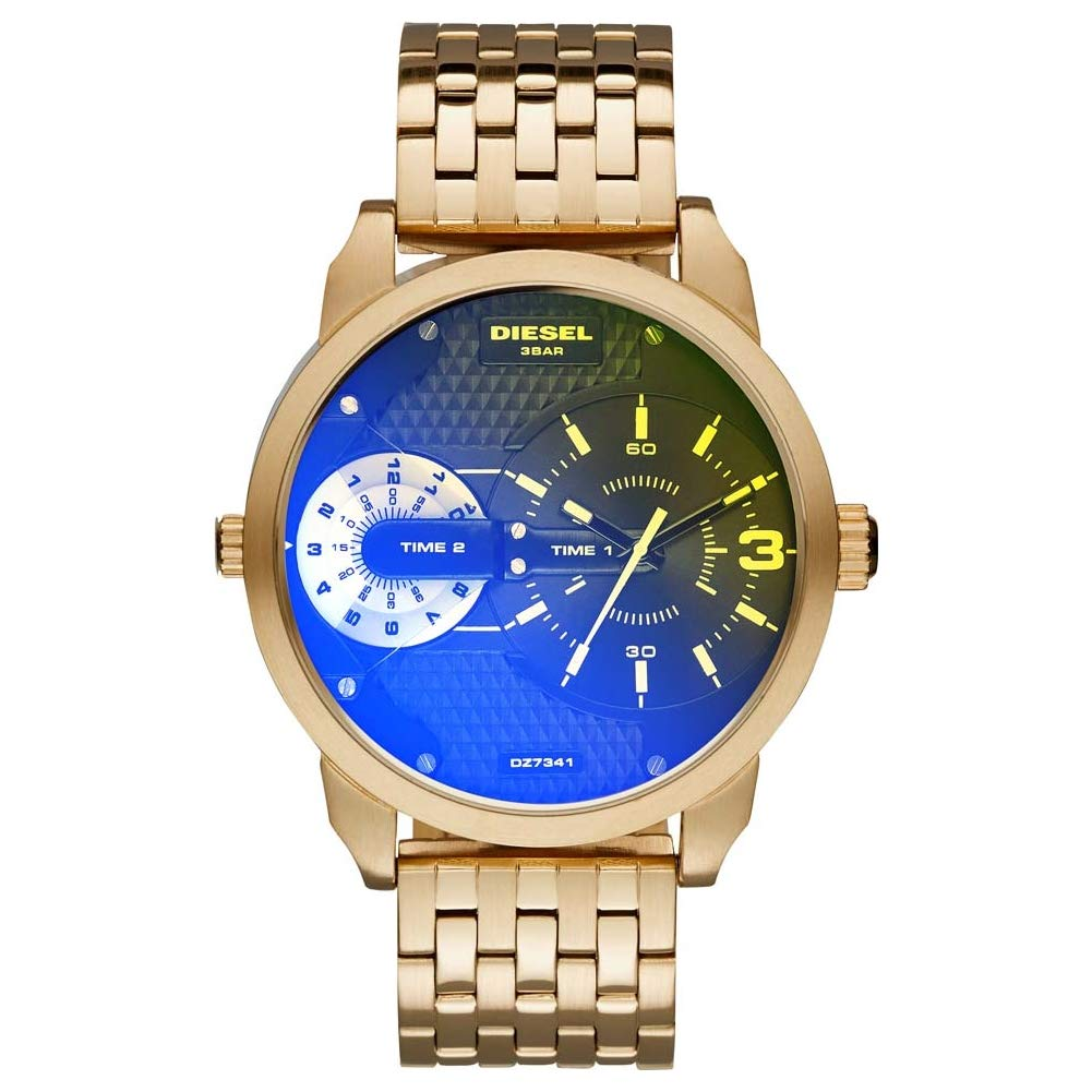 Diesel Mini Daddy–Reloj de Pulsera analógico de Cuarzo Acero Inoxidable dz7341