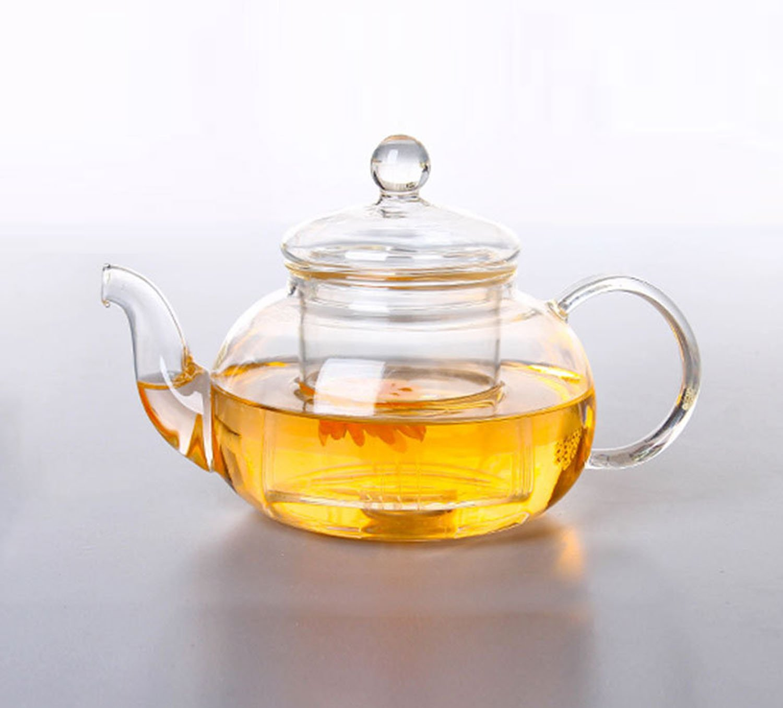 Honeylive Teapot 20oz Glass Filter Utensils Kungfu Tea flower Pot
