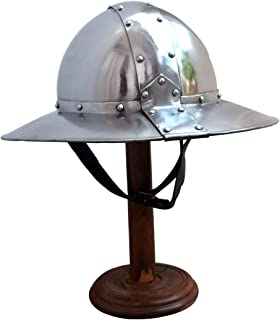 Medieval Banded Kettle Hat 1,6mm steel Helmet with Leather liner ABS