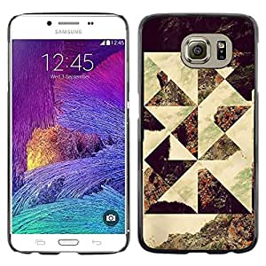 Be Good Phone Accessory // Dura Cáscara cubierta Protectora Caso Carcasa Funda de Protección para Samsung Galaxy S6 SM-G920 // Geometrical Photo Art Seashore