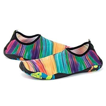 Mens Womens Skin Water Shoes Aqua Beach Pool Yoga Swim Surf Slip On Diving Socks