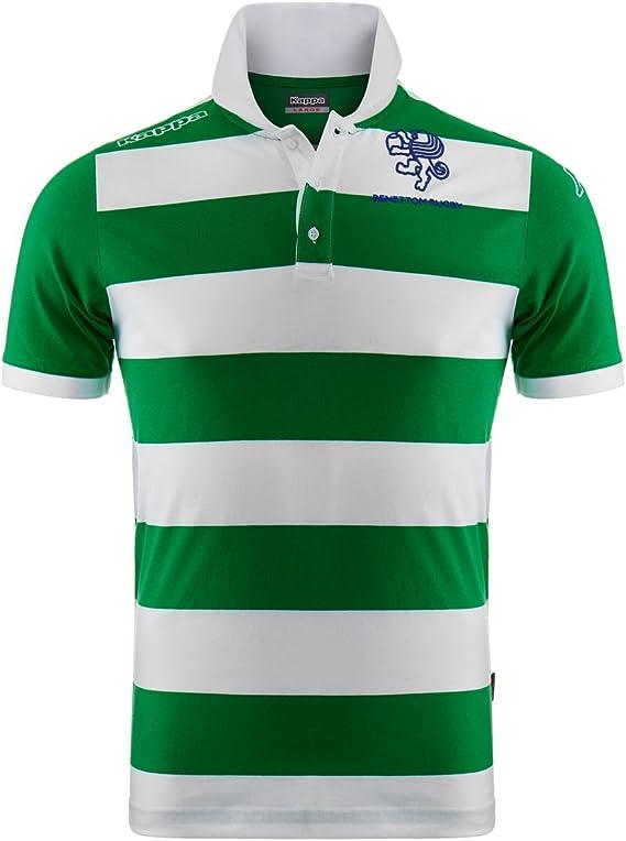 Polo - Virdane Benetton Rugby - Green-White - S: Amazon.es: Ropa y ...