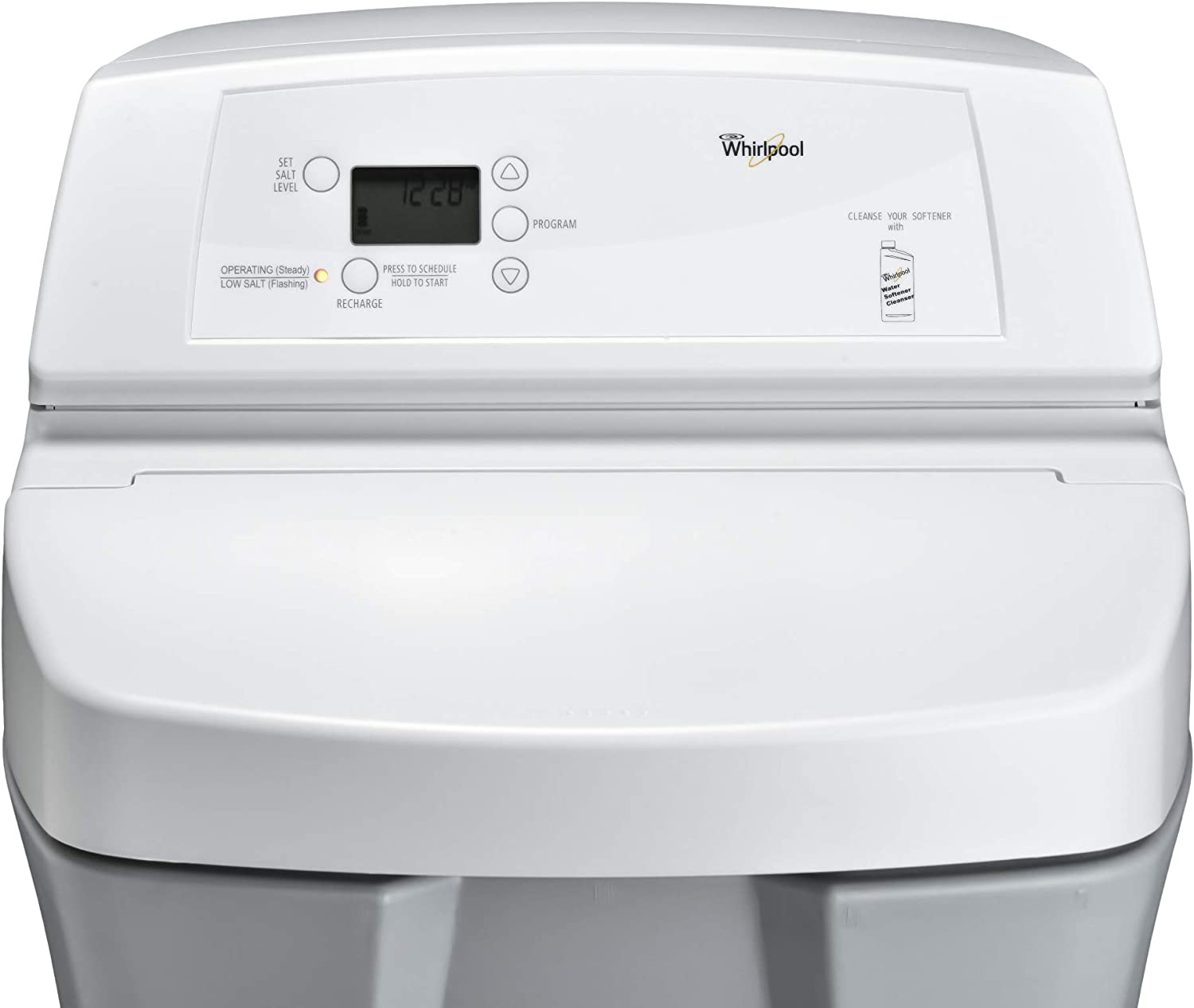 Whirlpool WHES30E 30, 000 Grain Softener | Salt & Water Saving Technology | NSF Certified | Automatic Whole House Soft Water Regeneration, 0.75 inches, Off-White - -