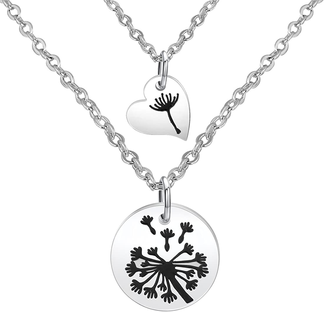 Zuo Bao Dandelion Mother Daughter Necklace Set Mother Daughter Jewelry Dandelion Necklace