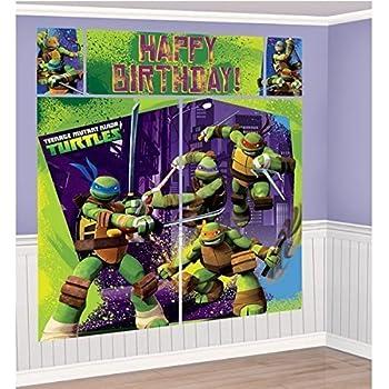 Amazon.com: Nickelodeon Ninja Turtles Escena Setters pared ...