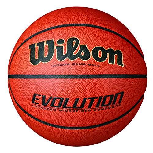 Wilson Evolution Indoor Game Basketball,Official – size 29.5 (Official Basketball Hoop Size)