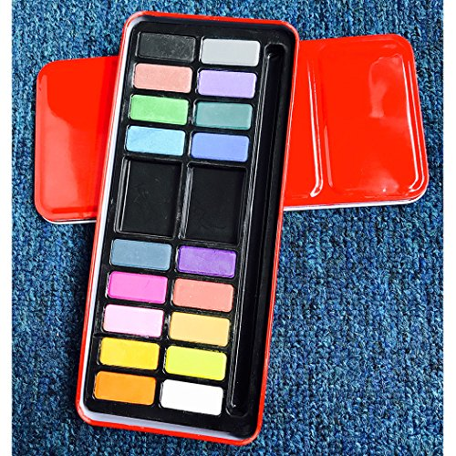 Watercolor Paint Set - 18 vibrant colors - Lightweight and portable - Perfect for budding hobbyists and artists - Paintbrush included