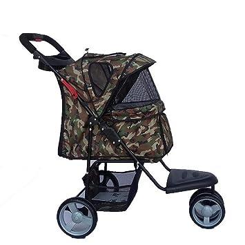 Aoligei Carrito para Mascotas Pet Stroller Correr pequeños y Medio Plegable Transpirable para Mascotas Coche: Amazon.es: Productos para mascotas