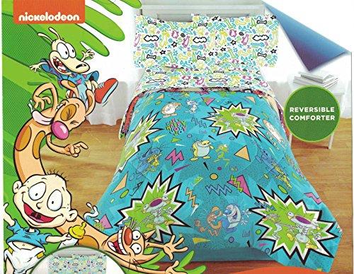 Nickelodeon Classic Nicktoons Twin/Full Comforter Bedding, Ren & Stimpy Rugrats]()