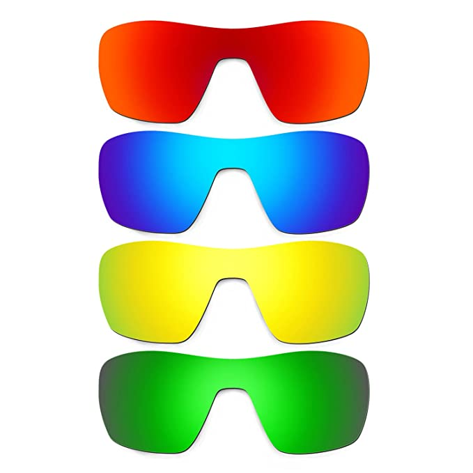 d1177eab066 Hkuco Mens Replacement Lenses For Oakley Offshoot Red Blue 24K Gold Emerald  Green