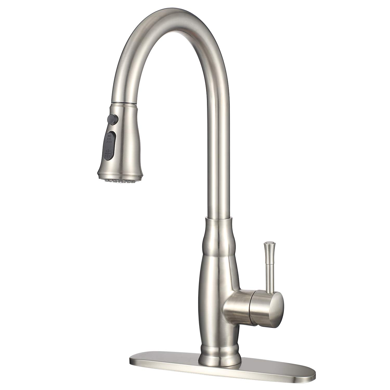 Stainless Steel Kitchen Faucet with Pull Down Sprayer ...