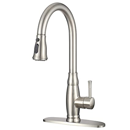 imlezon modern kitchen sink faucet with pull down sprayer stainless rh amazon com kitchen faucet prices reviews best kitchen faucet prices
