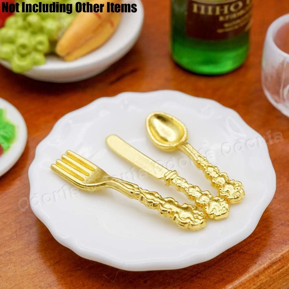 Odoria 1//12 Miniatura Posate doro Set de 12pz Cucina di Casa delle Bambole