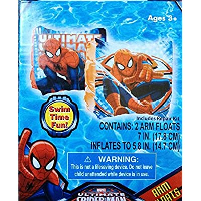 Marvel Ultimate Spiderman Set of 2 Swimming Pool Arm Floats: Toys & Games