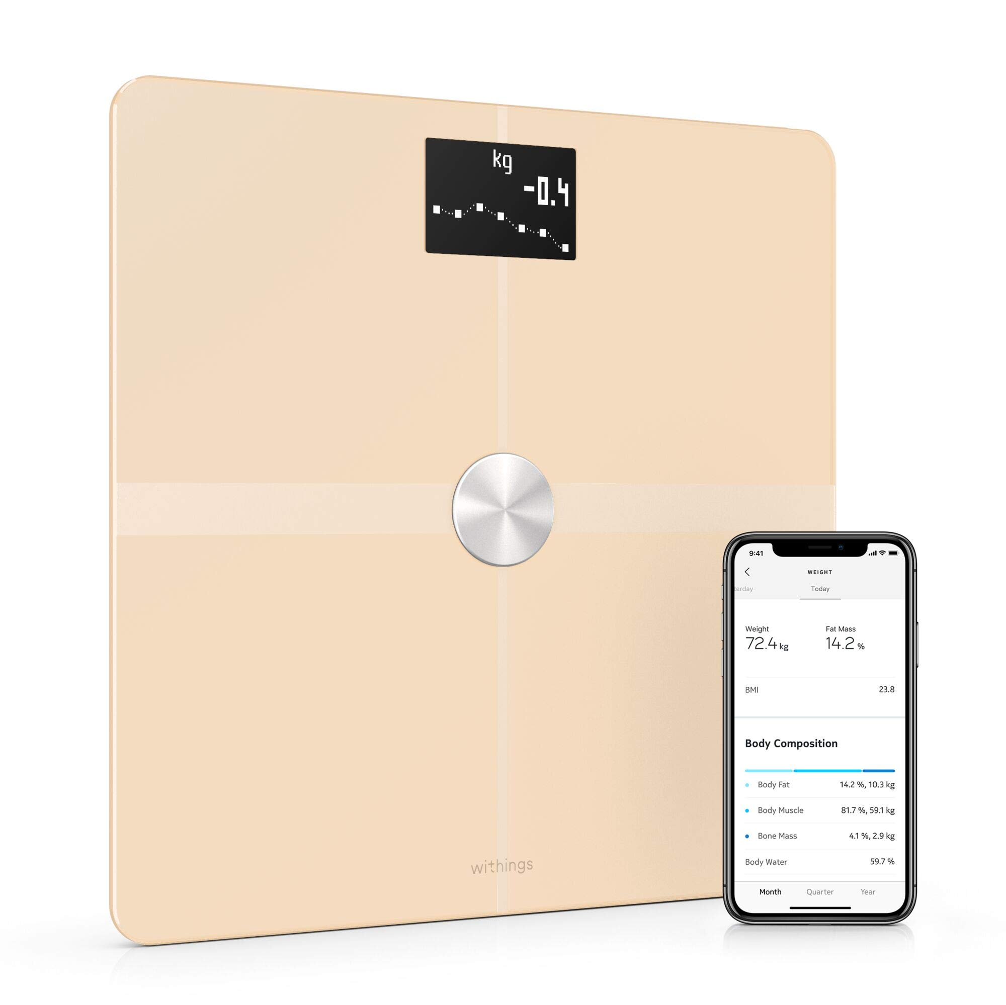 Withings Body+ - Smart Body Composition Wi-Fi Digital Scale with Smartphone app by Withings