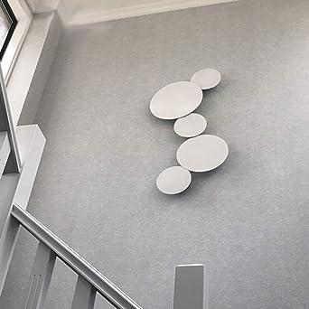 Pared rústica lámpara de LED, Ronda creativa Corredor Decoración combinación aplique Pasillo Escalera Restaurante Sala Sala de te Lámpara de noche Arte hierro luz blanca,20cm*3+30cm*2: Amazon.es: Iluminación