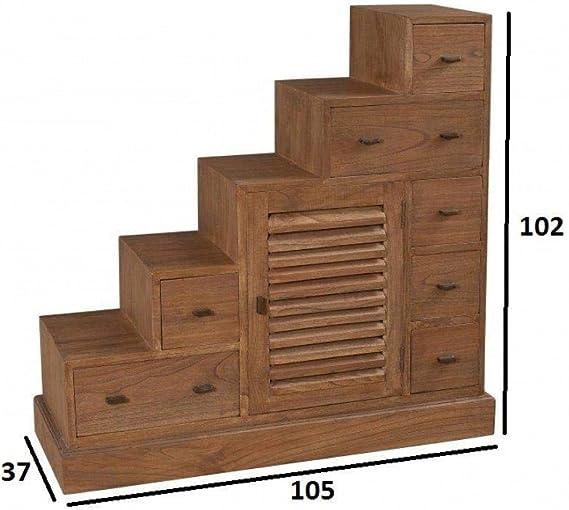 Mueble Escalera 7 cajones Laura en Mindi Estilo Colonial: Amazon.es: Hogar