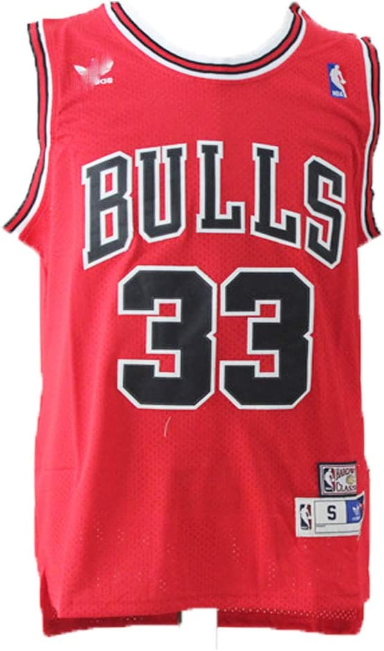 LAMBO Basketball Jersey Hommes Chicago Bulls Scottie Pippen #33 Swing Respirant Man Jersey Amateurs de Sport sans Manches T-Shirt