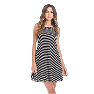 65afce7071a Scaling ❤ Women Dress, Women Summer Striped Mini Dress Sleeveless ...