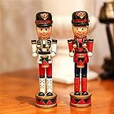 2Pcs Christmas Holiday Nutcracker Colors Drums
