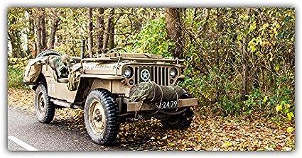 Jeep Willis Mv Tableau Poster Plaque Photo Deco Armee Seconde Guerre Mondiale Plastique 40 X 80 Cm Amazon Fr Cuisine Maison