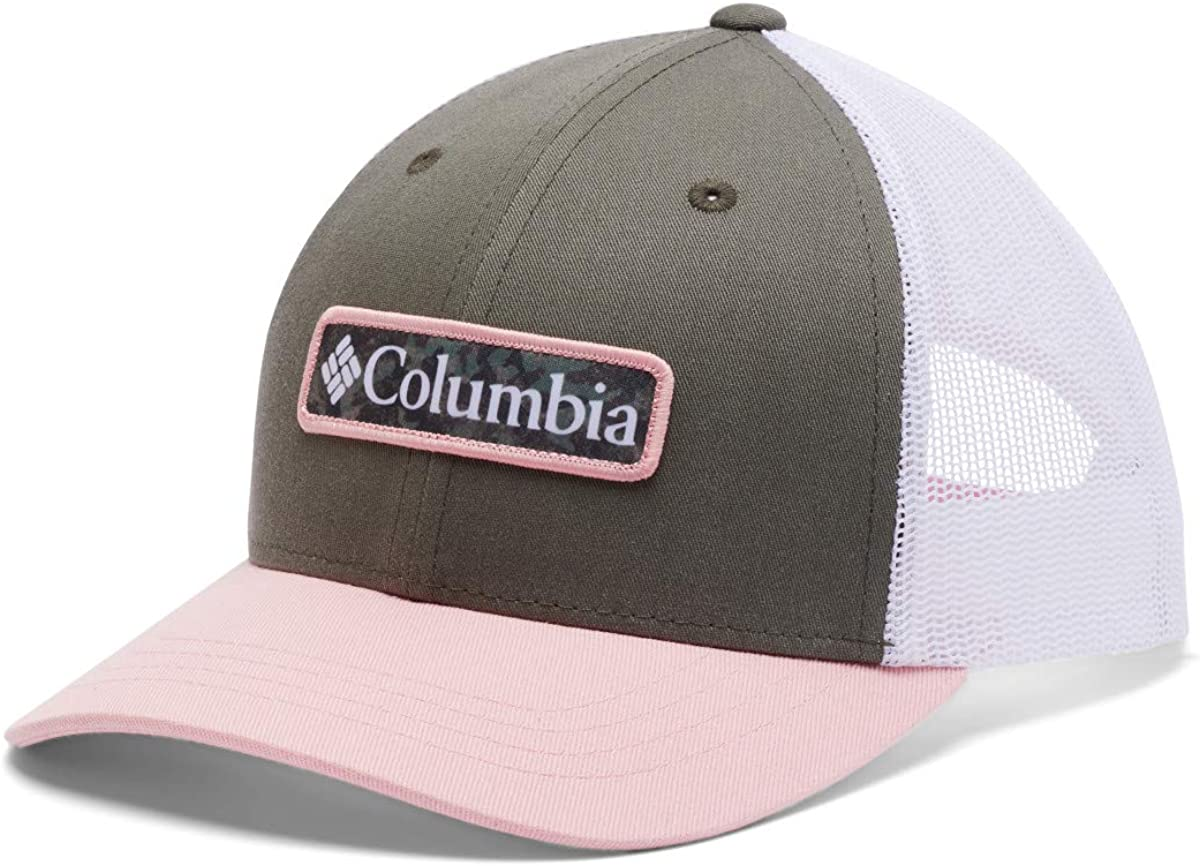 Columbia Kids' Little Boys' Snap Back Hat, Stone Green/Faux Pink, One Size: Clothing