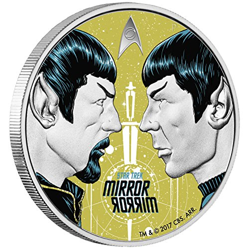 2017 TV MIRROR MIRROR-STAR TREK THE ORIGINAL SERIES 1oz proof silver coin $1 Perfect Uncirculated ()