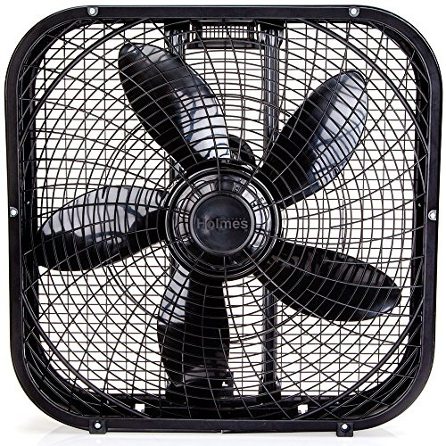 Traditional Square Top - Holmes HBF2001DP-BM 20-Inch Box Fan,Black