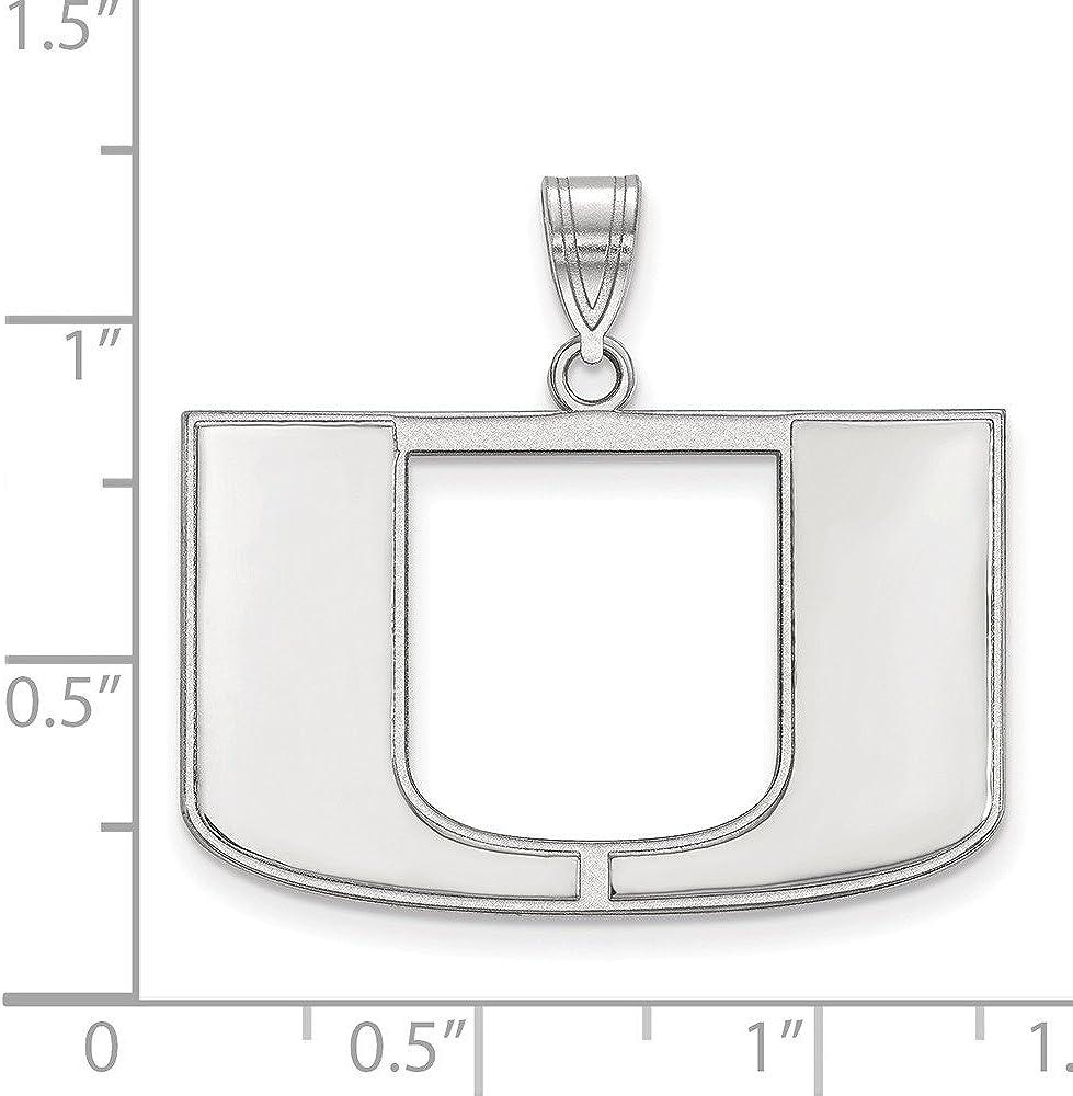 FB Jewels Sterling Silver LogoArt Appalachian State University Large Pendant