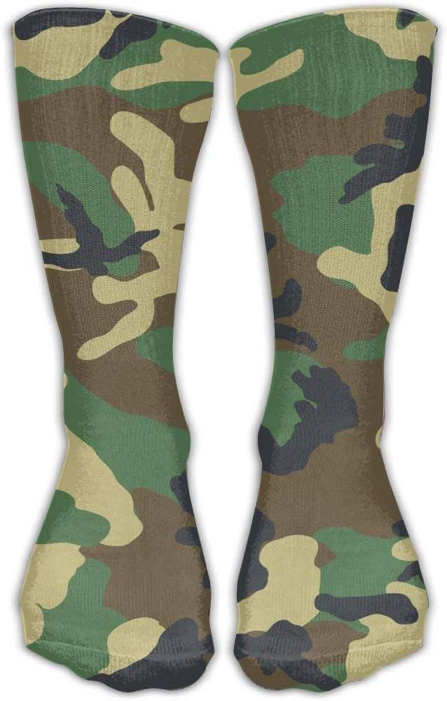 Socksforu Camuflaje verde del ejército patrón de rodilla calcetines altos para hombre para mujer adultos algodón acogedor calcetines largos para yoga senderismo ciclismo: Amazon.es: Ropa y accesorios
