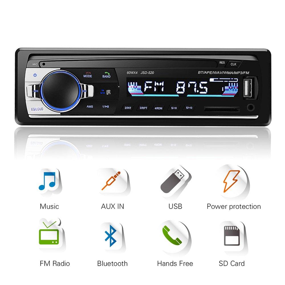 Bluetooth Car Stereo 4x60w Audio Fm Radio Mp3 International Satellite Wiring Diagram Electronics