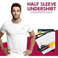 Men's Comfortable Undershirt (Half Sleeves) - Premium Quality Men's Vest, Made of 100% Combed Cotton - Pack of 3