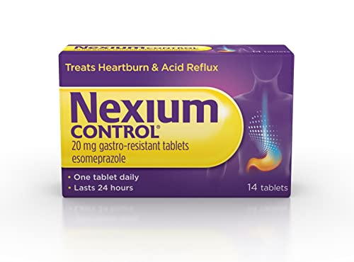 Nexium Control (14 Count) Heartburn and Acid Reflux Relief Tablets, 20mg Gastro-Resistant Esomeprazole Tablets