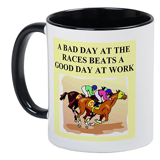 786227c3 Amazon.com: CafePress Horse Racing Gifts T-Shirts Mug Unique Coffee Mug,  Coffee Cup: Kitchen & Dining