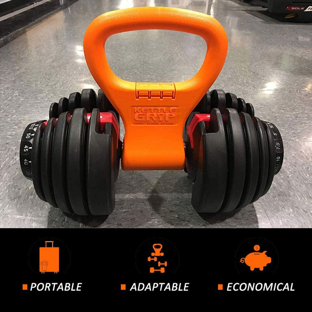 Kettlebell Grip Adjustable Portable Weight Travel Workout Equipment Gear for Gym Weights Bag Bodybuilding Clamps to Dumbells   Weightlifting Crossfit WOD Lose Weight